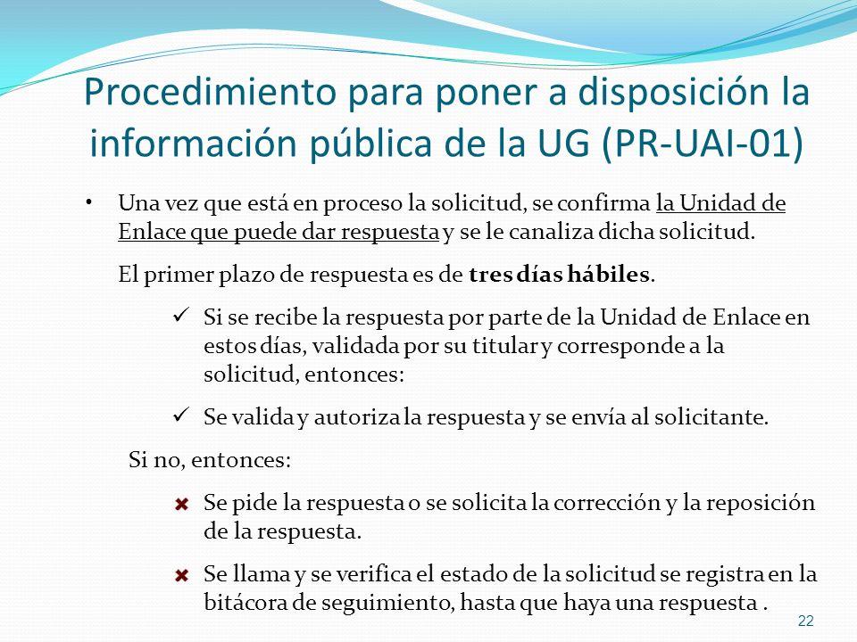 Procedimiento para poner a disposición la información pública de la UG (PR-UAI-01)