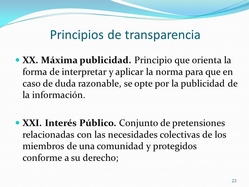 Principios de transparencia