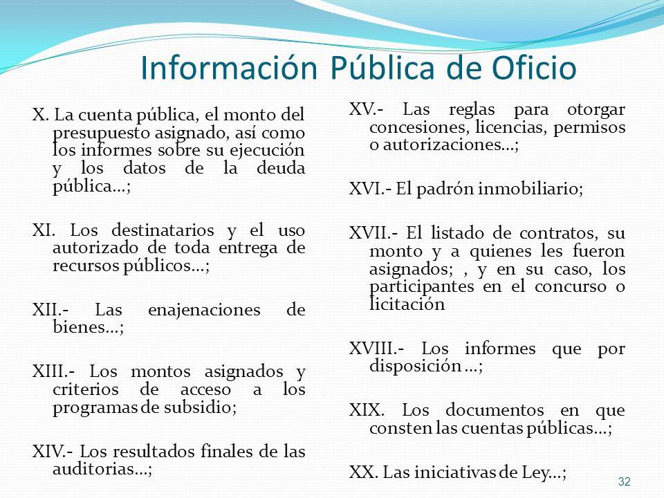 Información Pública de Oficio