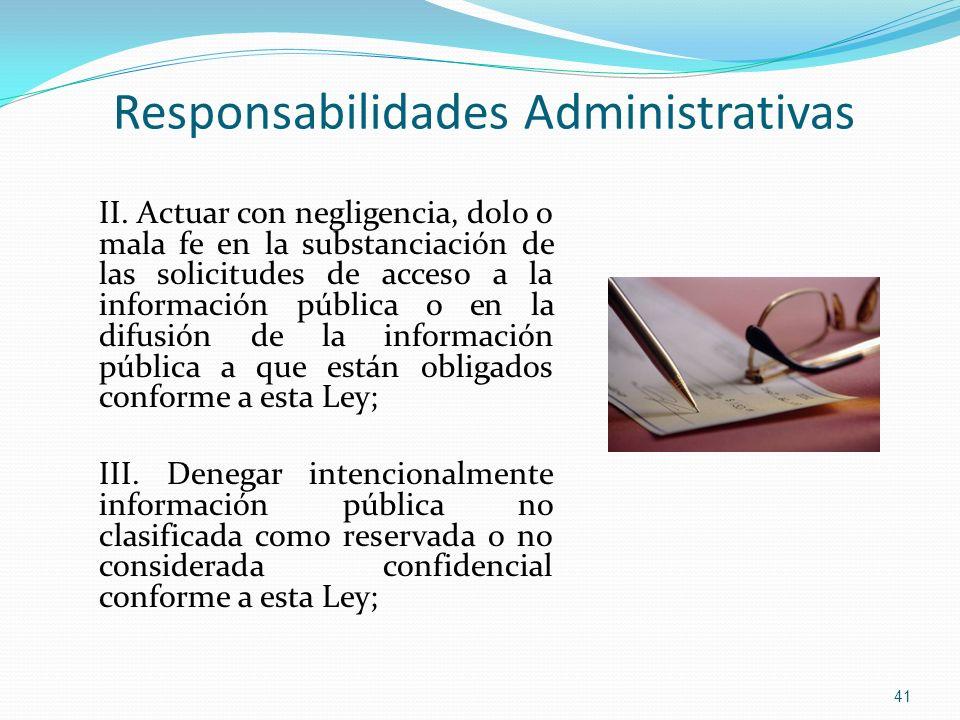 Responsabilidades Administrativas