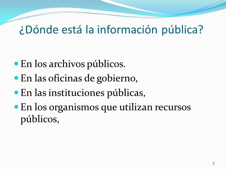 ¿Dónde está la información pública