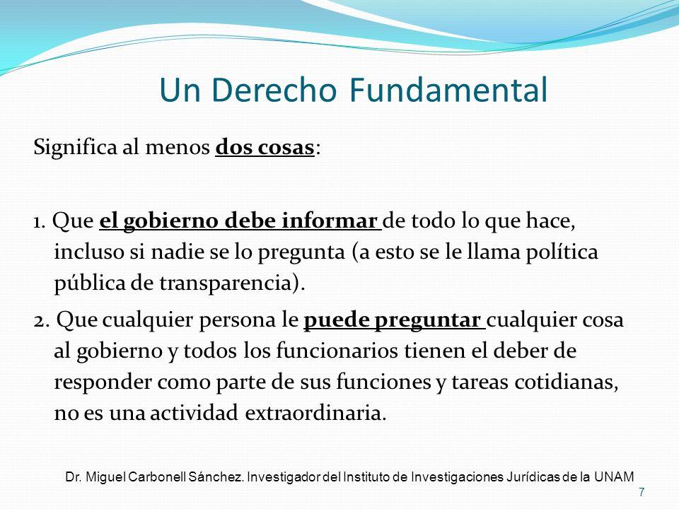 Un Derecho Fundamental