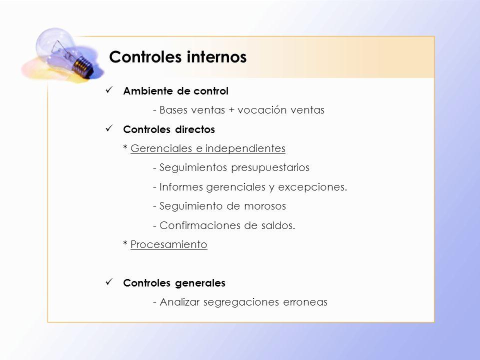 Controles internos Ambiente de control