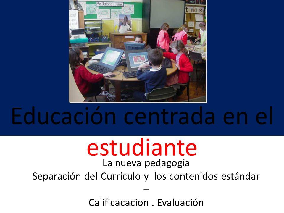 Educación centrada en el estudiante