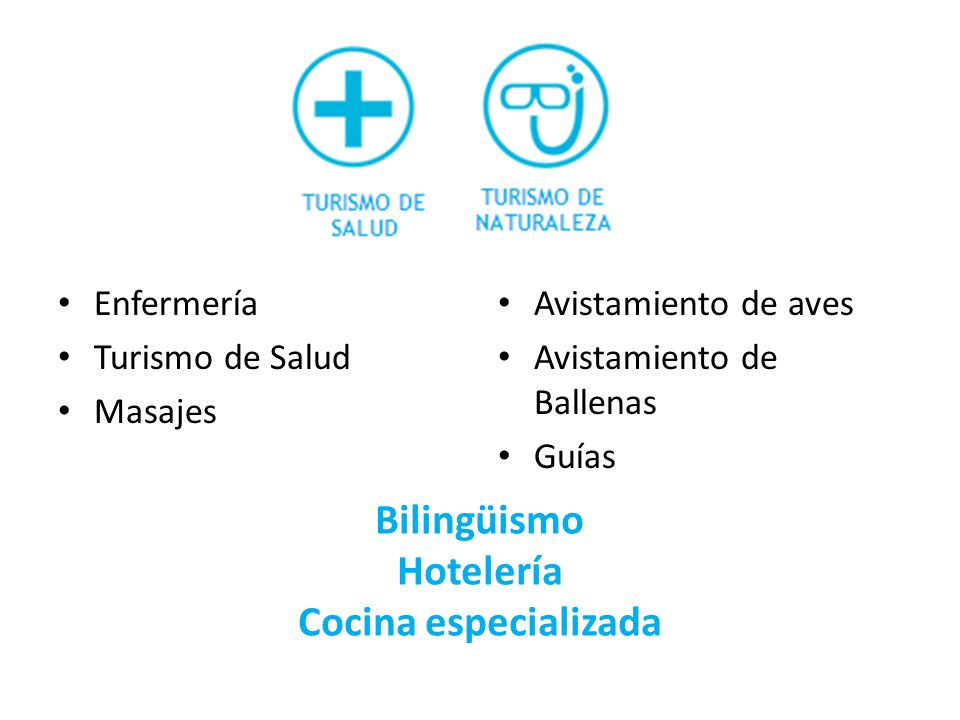 Bilingüismo Hotelería Cocina especializada