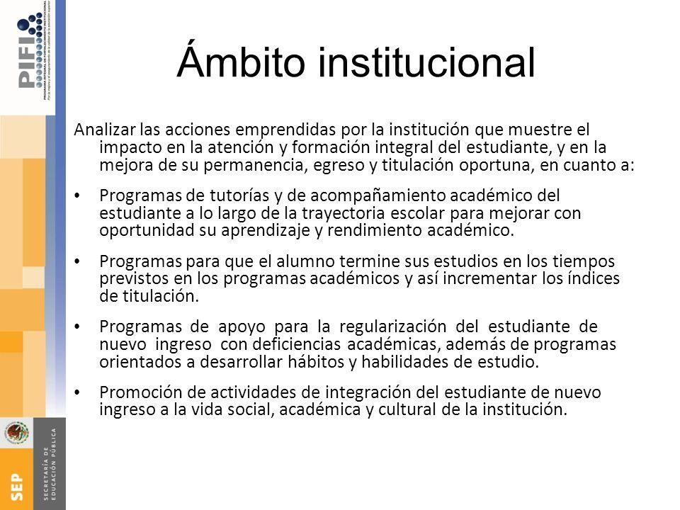 Ámbito institucional