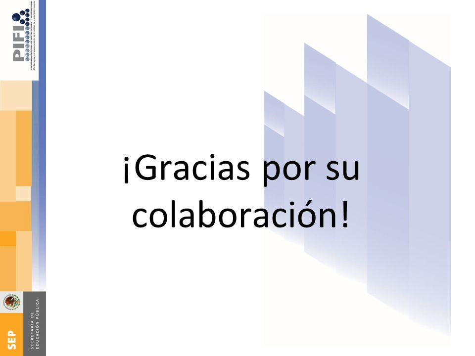 ¡Gracias por su colaboración!
