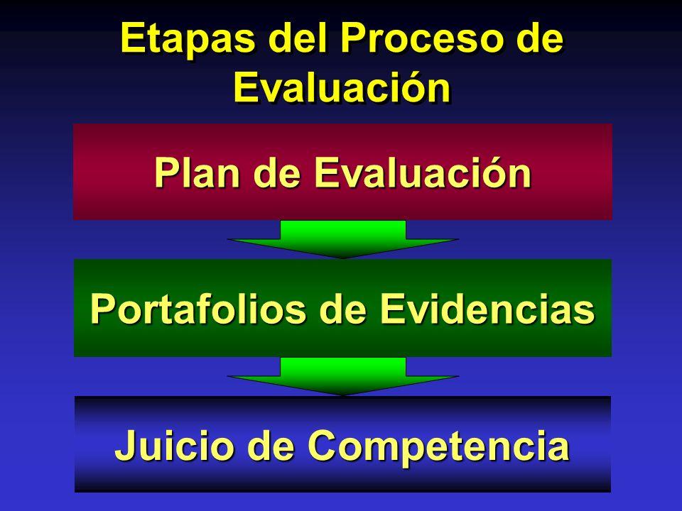 Etapas del Proceso de Evaluación Portafolios de Evidencias