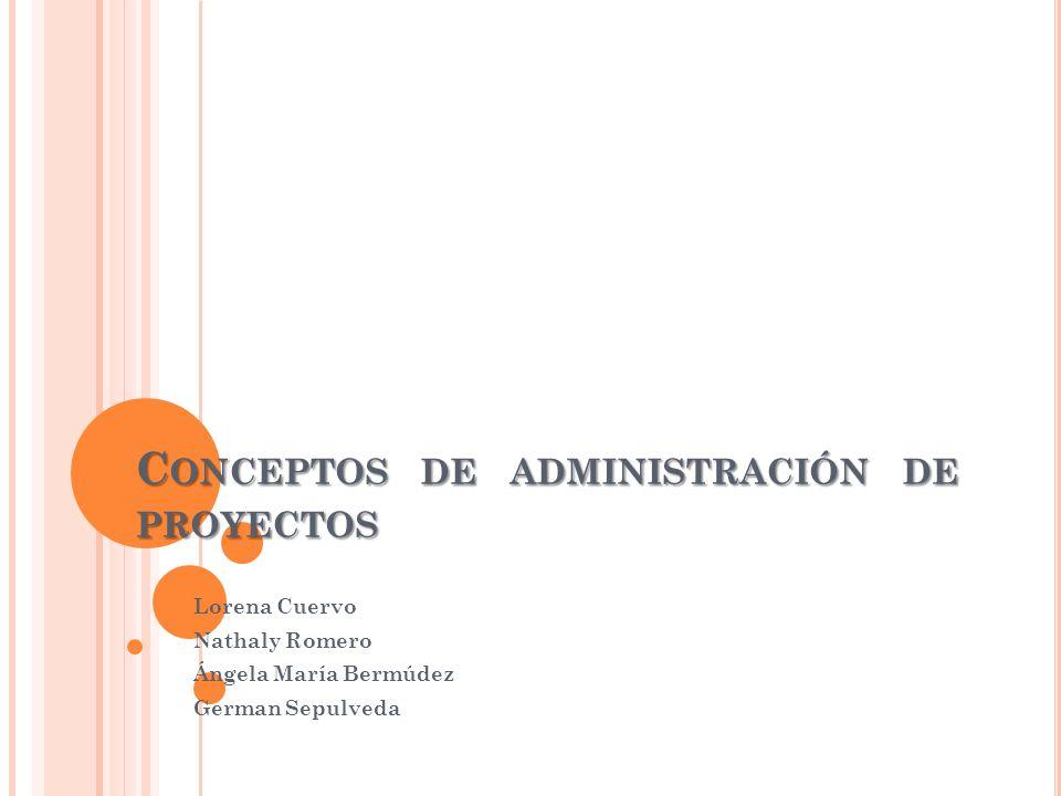 Conceptos de administración de proyectos