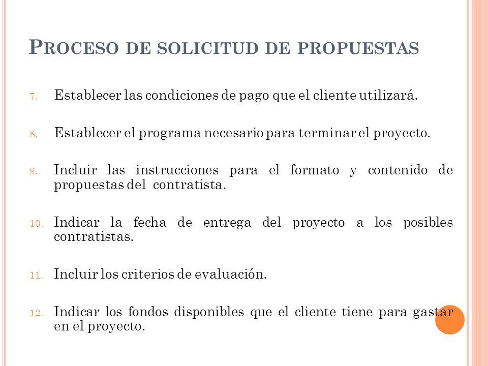 Proceso de solicitud de propuestas