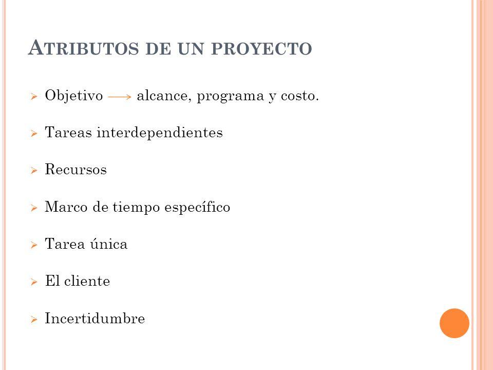 Atributos de un proyecto