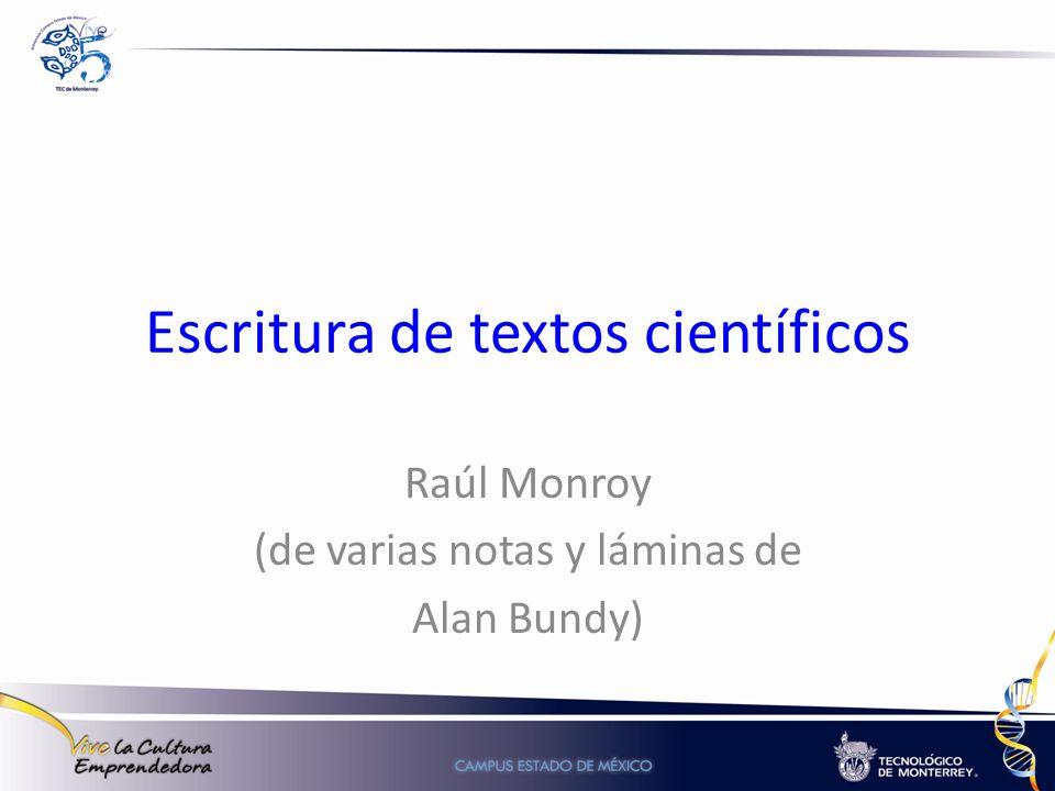 Escritura de textos científicos