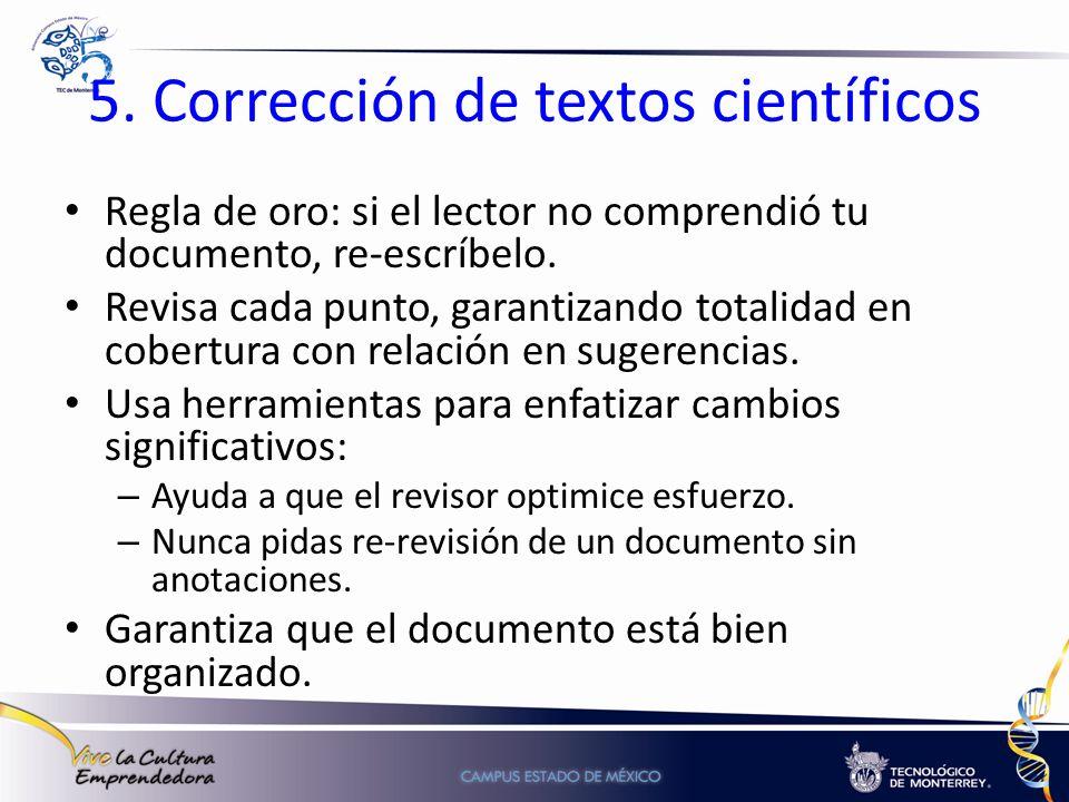 5. Corrección de textos científicos
