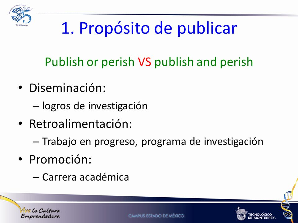 Publish or perish VS publish and perish