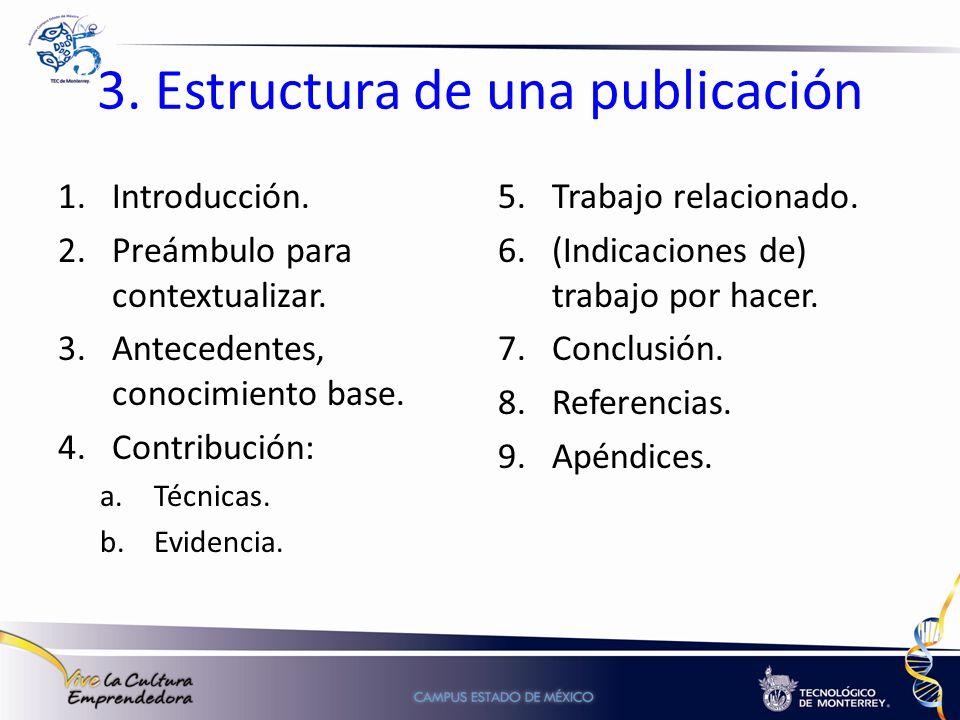 3. Estructura de una publicación