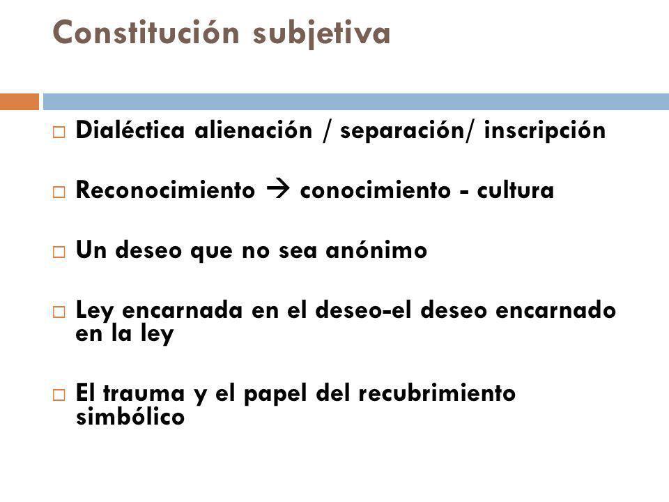 Constitución subjetiva