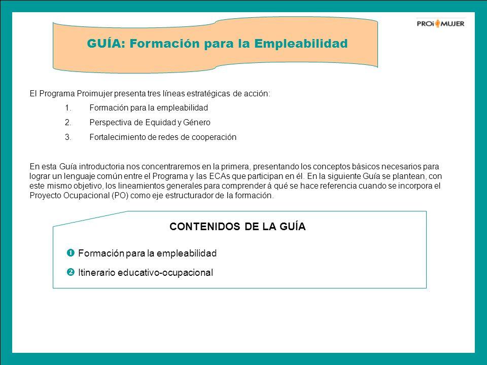 GUÍA: Formación para la Empleabilidad