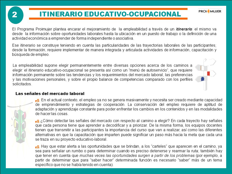 ITINERARIO EDUCATIVO-OCUPACIONAL
