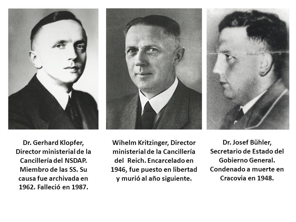 Dr. Gerhard Klopfer, Director ministerial de la Cancillería del NSDAP