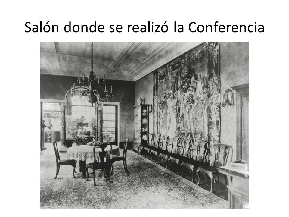 Salón donde se realizó la Conferencia