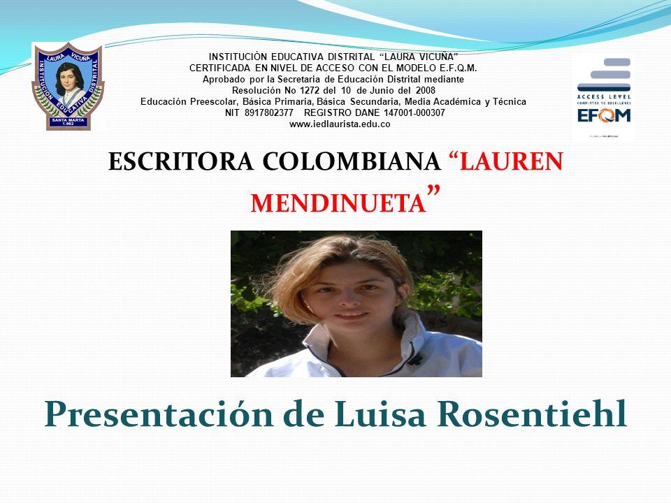 Presentación de Luisa Rosentiehl