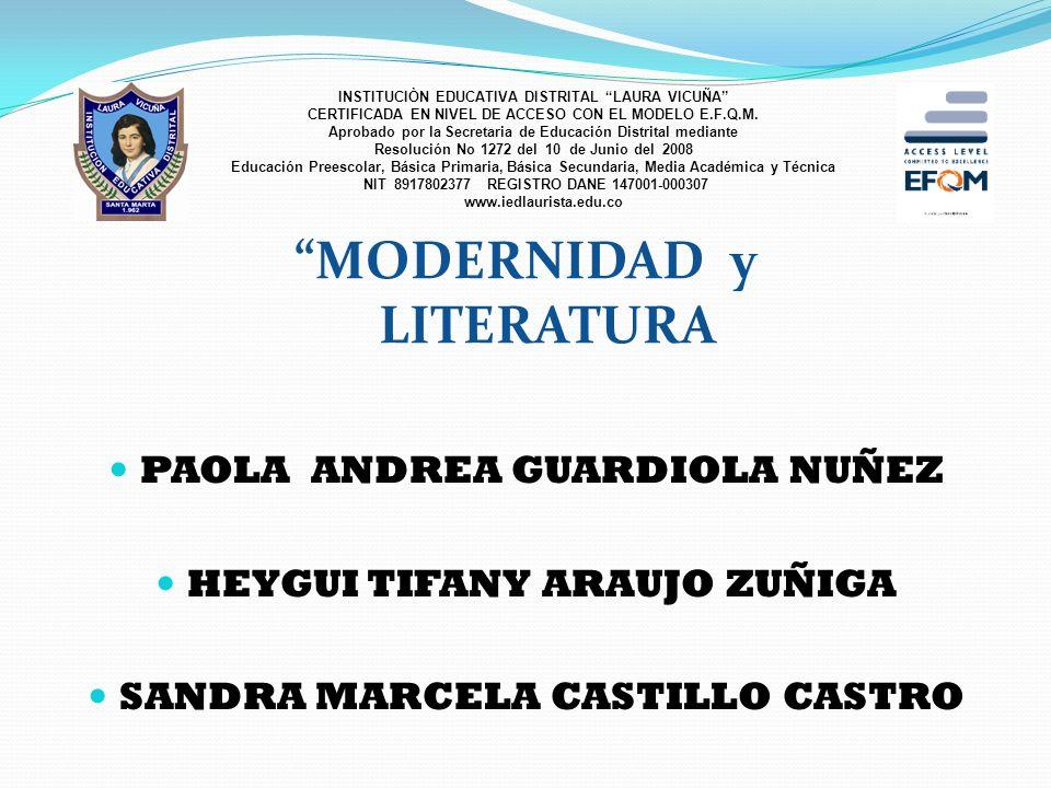 MODERNIDAD y LITERATURA
