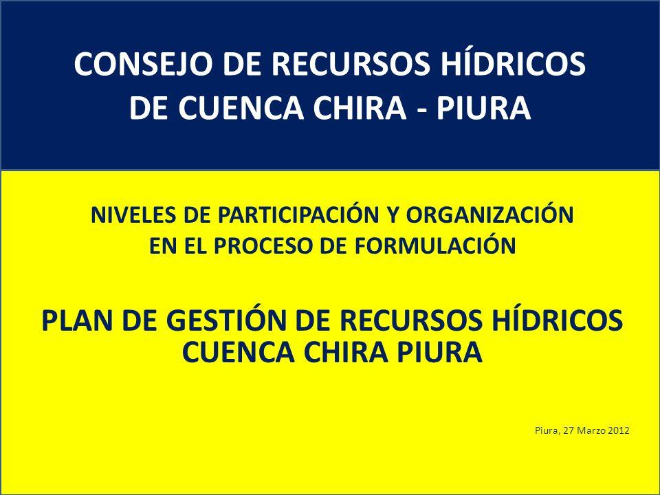 CONSEJO DE RECURSOS HÍDRICOS DE CUENCA CHIRA - PIURA