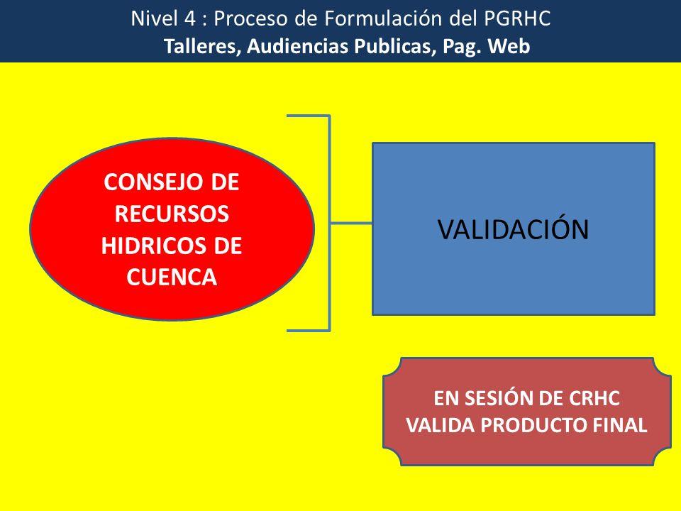 EN SESIÓN DE CRHC VALIDA PRODUCTO FINAL