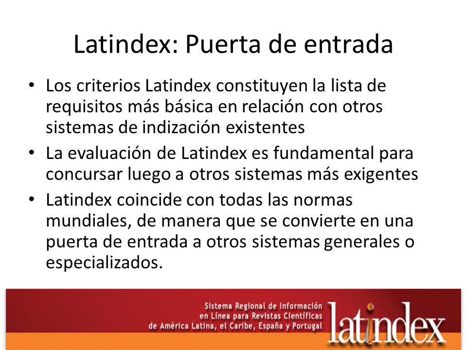 Latindex: Puerta de entrada