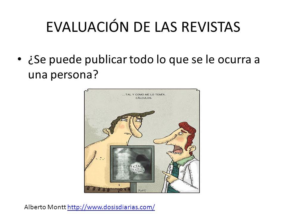 EVALUACIÓN DE LAS REVISTAS