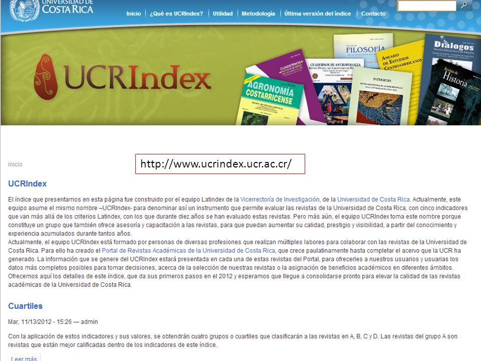 http://www.ucrindex.ucr.ac.cr/