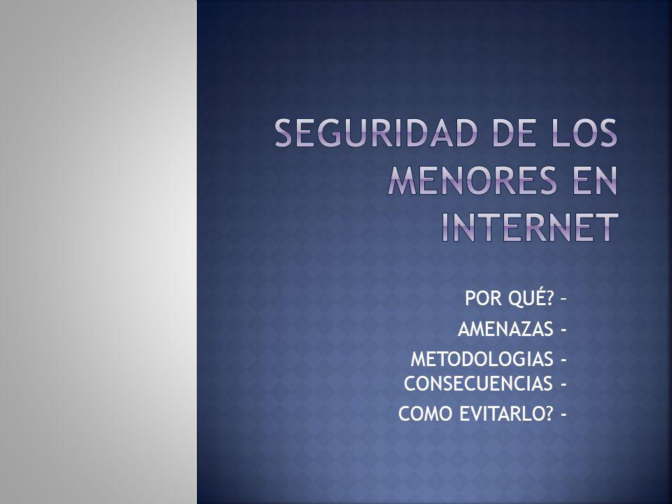 SEGURIDAD DE LOS MENORES EN INTERNET