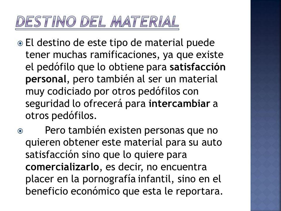 DESTINO DEL MATERIAL