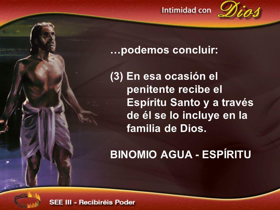 BINOMIO AGUA - ESPÍRITU