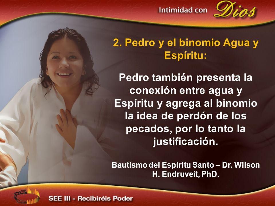 2. Pedro y el binomio Agua y Espíritu: