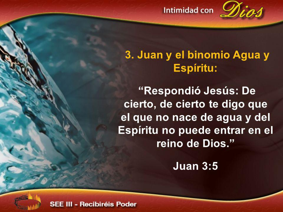 3. Juan y el binomio Agua y Espíritu: