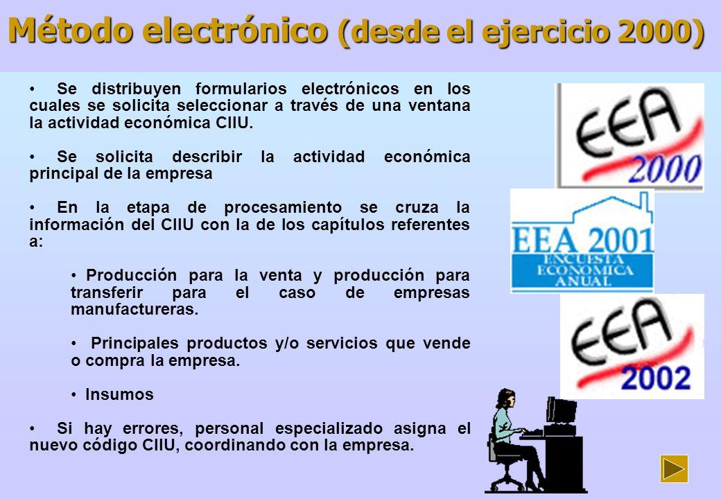 Método electrónico (desde el ejercicio 2000)