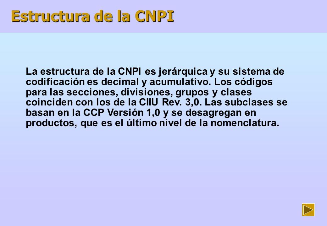 Estructura de la CNPI