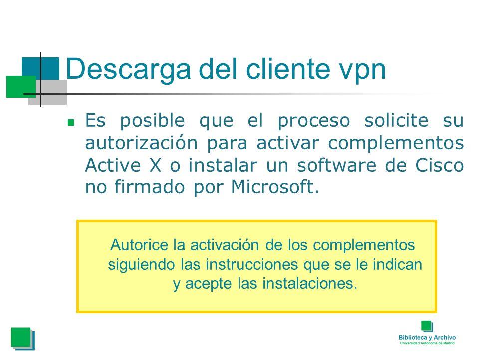 Descarga del cliente vpn
