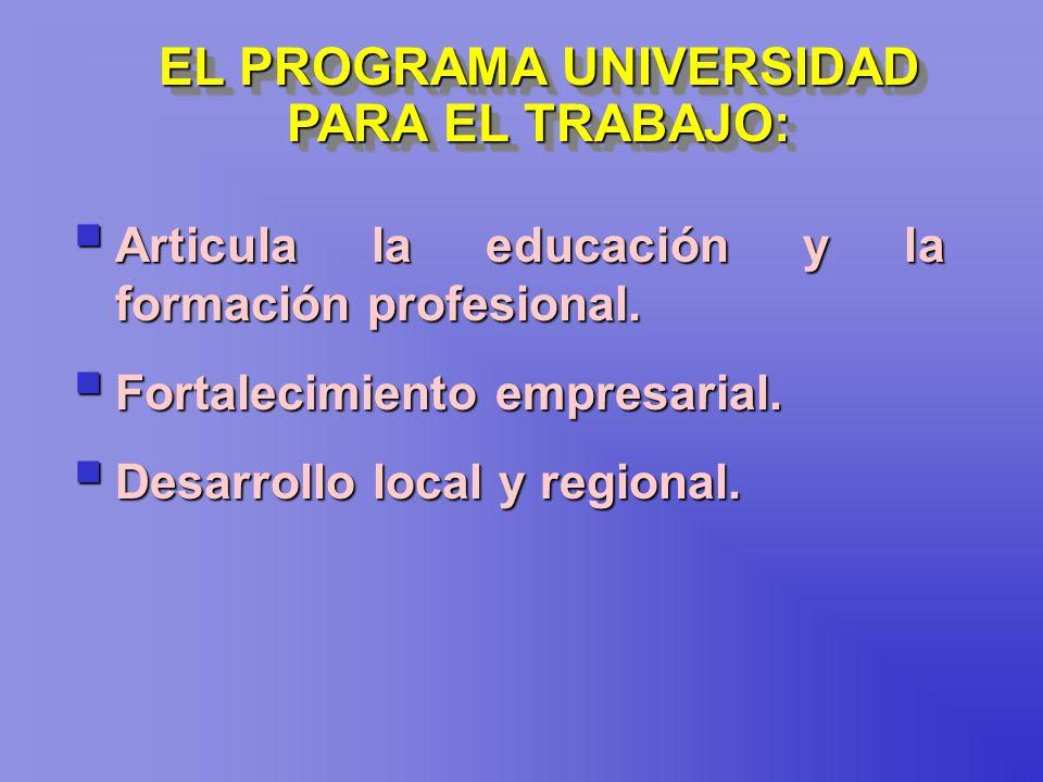 EL PROGRAMA UNIVERSIDAD PARA EL TRABAJO: