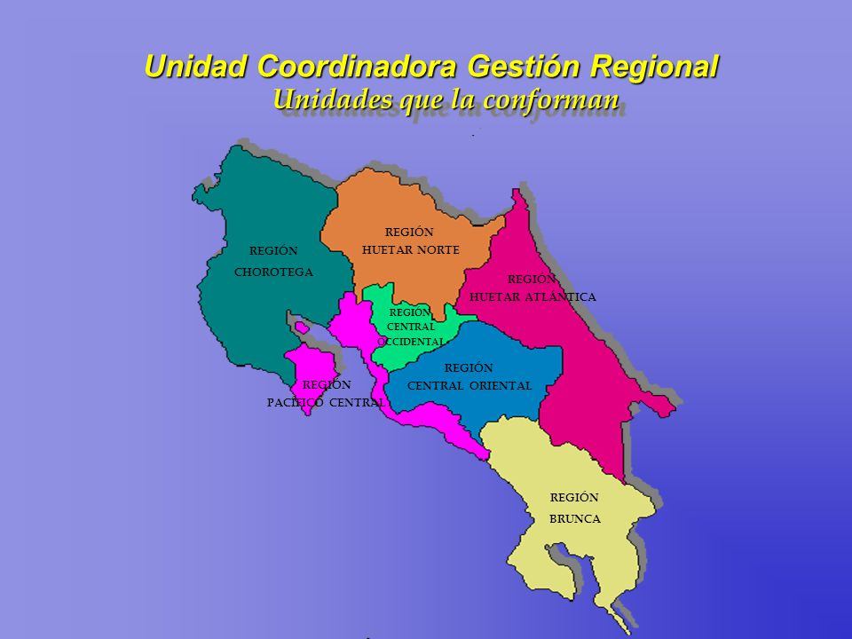 Unidad Coordinadora Gestión Regional Unidades que la conforman