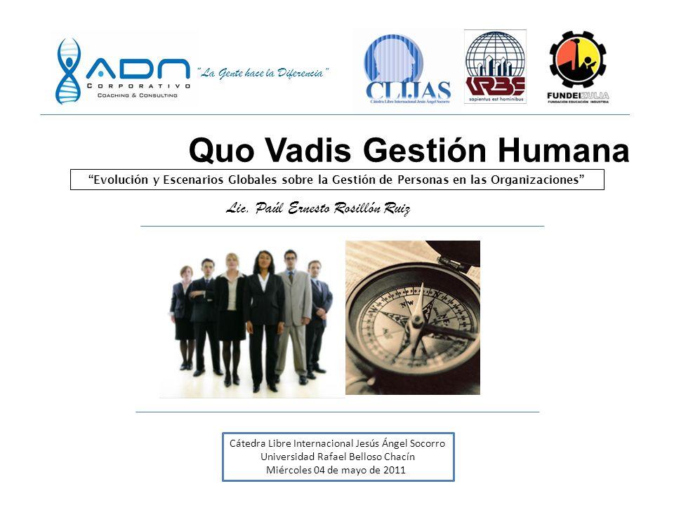 Quo Vadis Gestión Humana