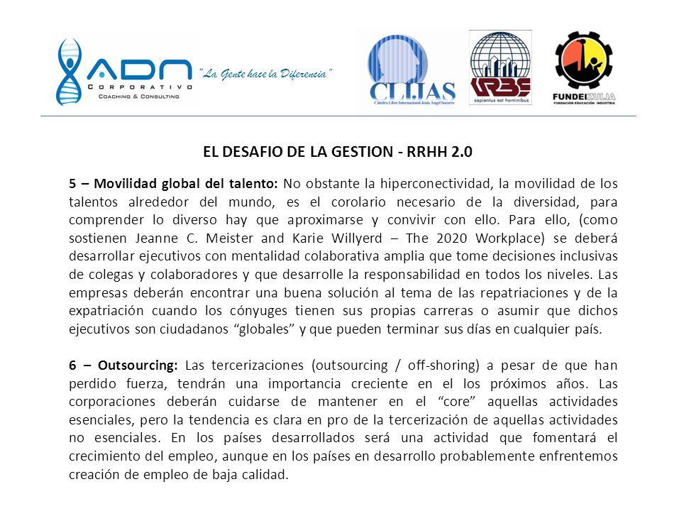 EL DESAFIO DE LA GESTION - RRHH 2.0