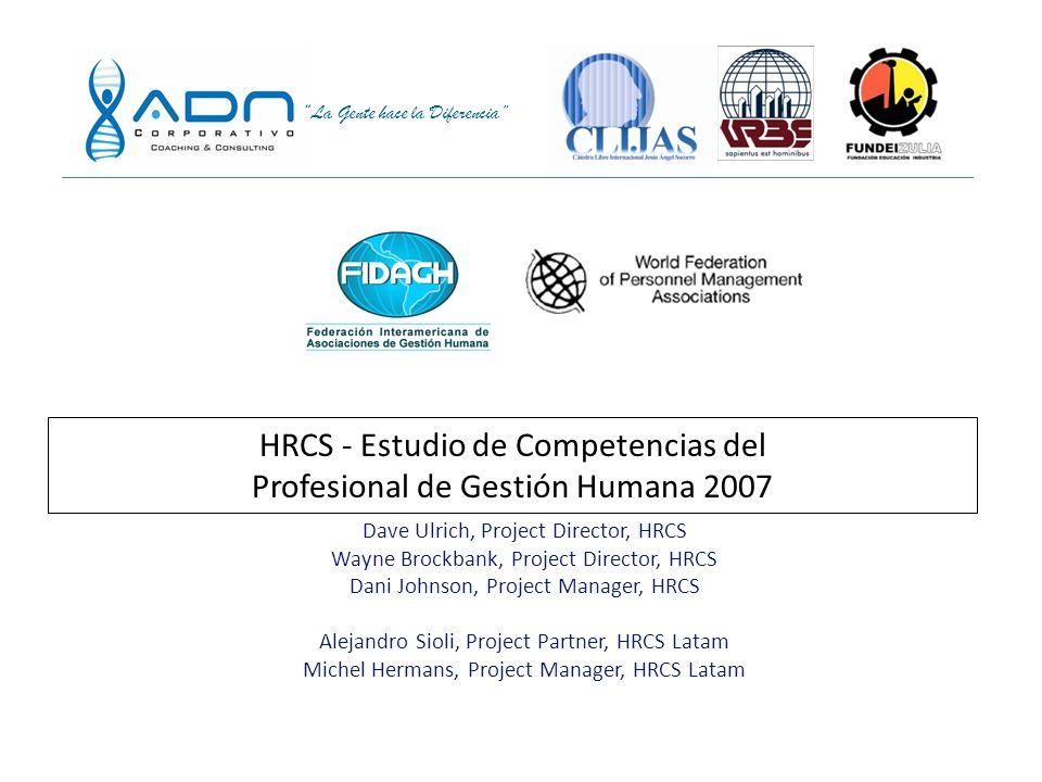 HRCS - Estudio de Competencias del Profesional de Gestión Humana 2007