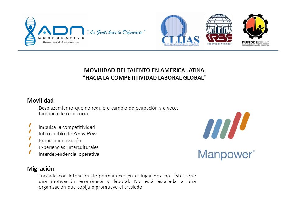 Movilidad Migración MOVILIDAD DEL TALENTO EN AMERICA LATINA: