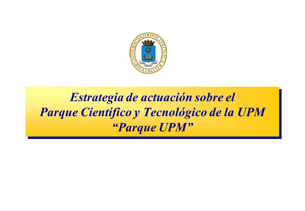 Estrategia de actuación sobre el Parque Científico y Tecnológico de la UPM Parque UPM