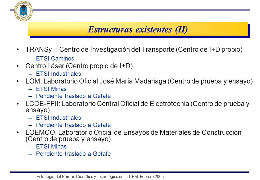 Estructuras existentes (II)