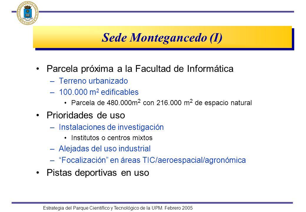Sede Montegancedo (I) Parcela próxima a la Facultad de Informática