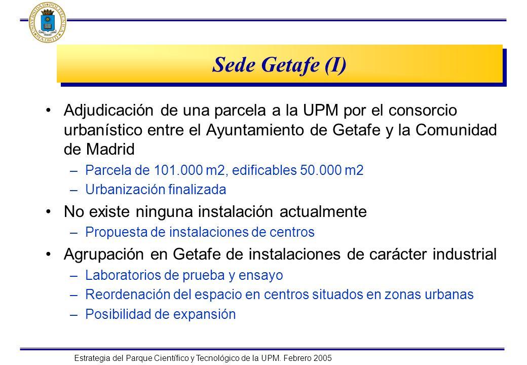 Sede Getafe (I) Adjudicación de una parcela a la UPM por el consorcio urbanístico entre el Ayuntamiento de Getafe y la Comunidad de Madrid.