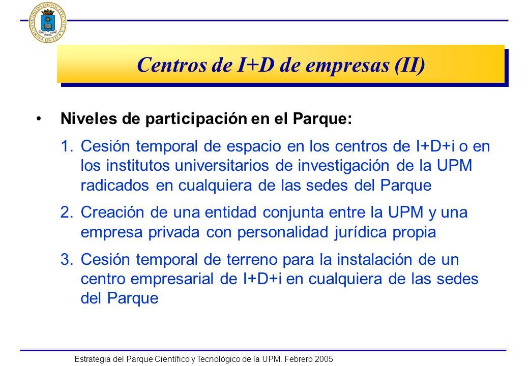 Centros de I+D de empresas (II)